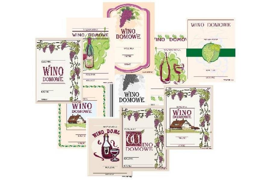 Etykiety WINO 9x11cm