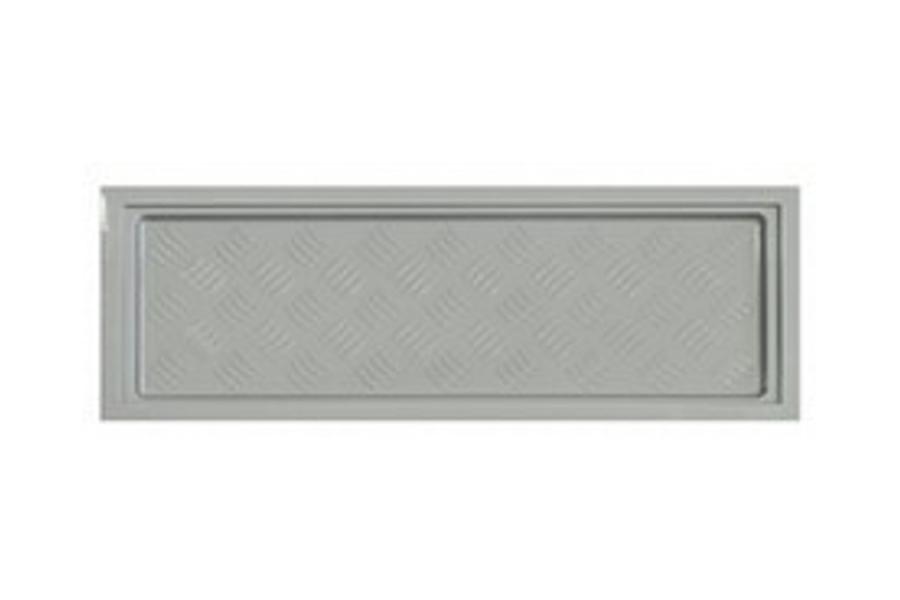 Korytko do suszarek 500 - 500 x 190 mm, miękkie, srebrne