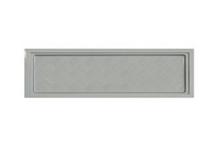 Korytko do suszarek 600 - 570 x 180 mm, miękke, srebrne