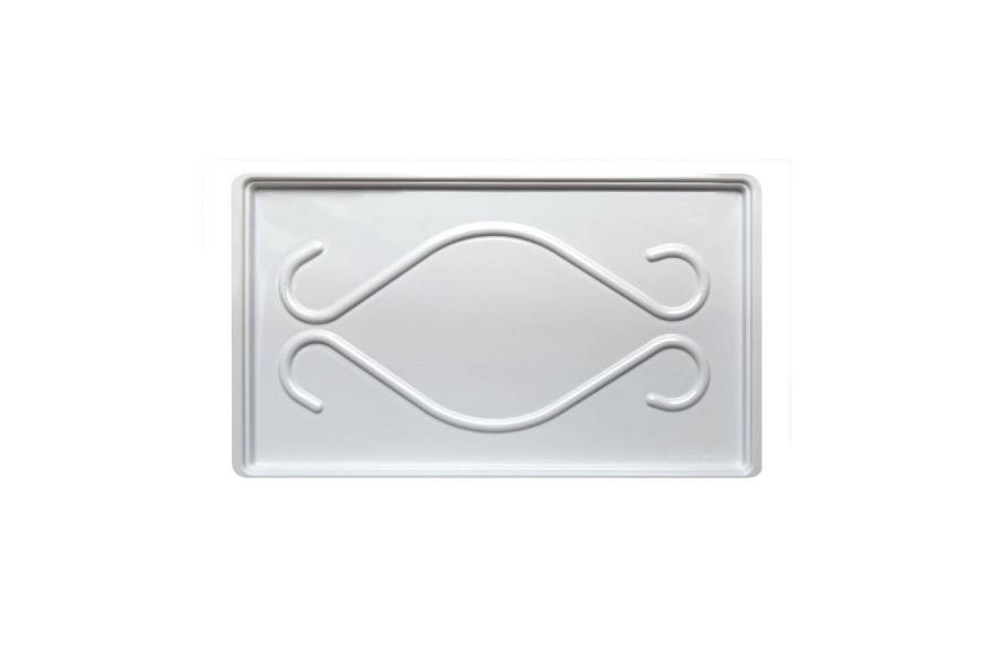 Поддон для сушилок 420 (420мм x 242мм) твёрдый белый