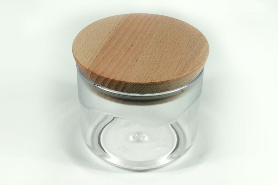 Pojemnik z wieczkiem drewnianym - 0,5 L