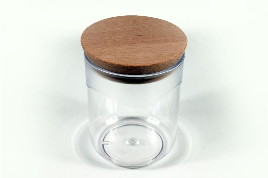 Pojemnik z wieczkiem drewnianym - 0,75 L